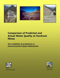 Comparison of Predicted and Actual Water Quality at Hardrock Mines